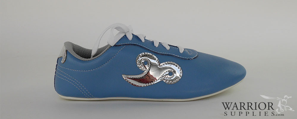 Leather Wushu shoes - blue silver