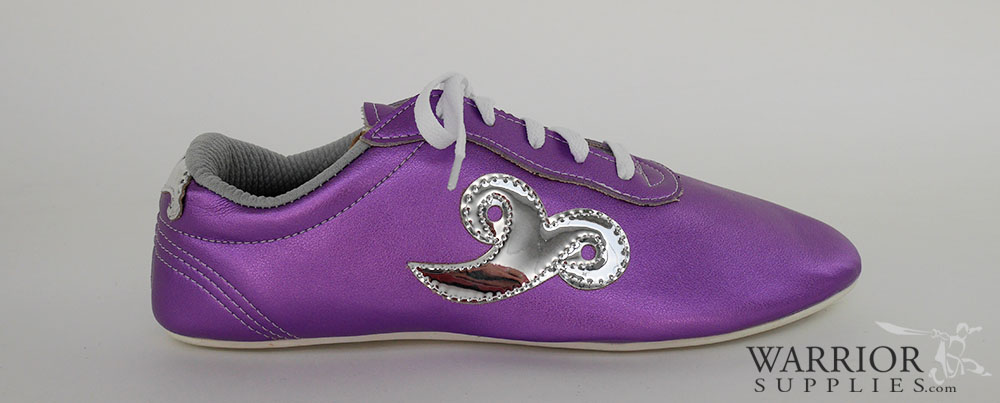 Leather Wushu shoes - purple silver