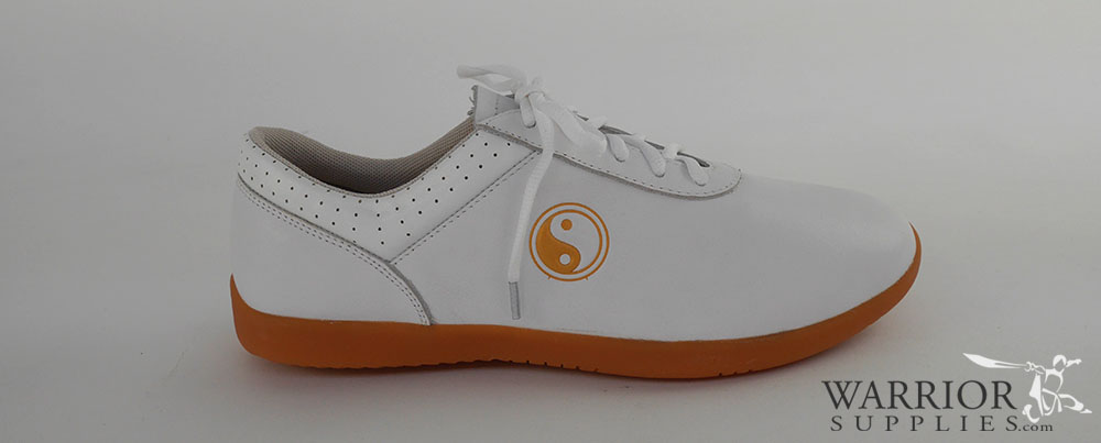Leather Tai Chi shoes - white